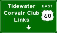Tidewater Corvair Club Links Sign