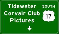 Tidewater Corvair Club Pictures Sign